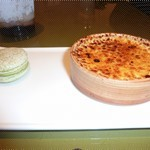 creme brulee and the matcha macaron