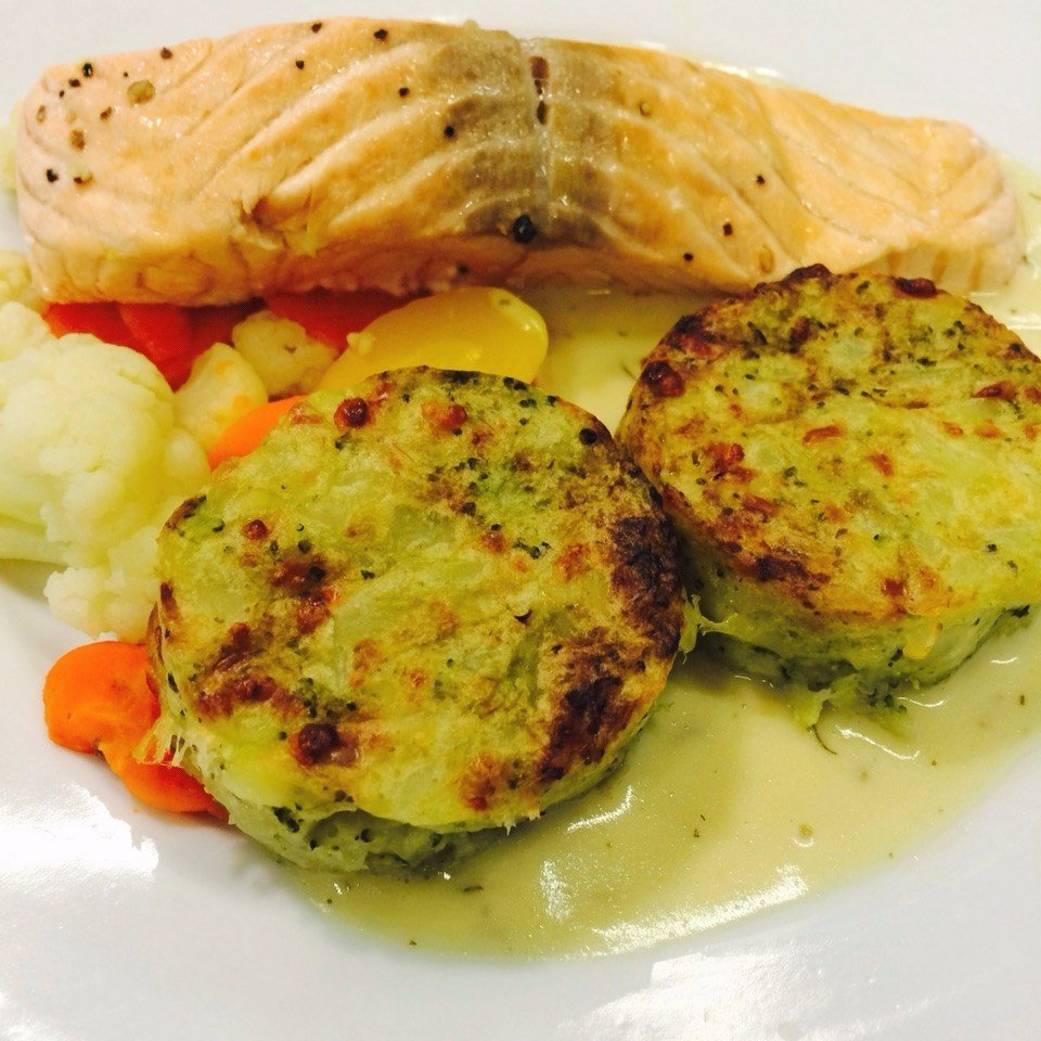 Salmon And Potato Broccoli Cake Ikea Restaurant Café S Photo In